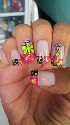 Spring Nails, Summer Nails, Back To School Nails, Cute Nail Art, Toe Nails, Nail Designs, Hair Beauty, Nailart, Swag