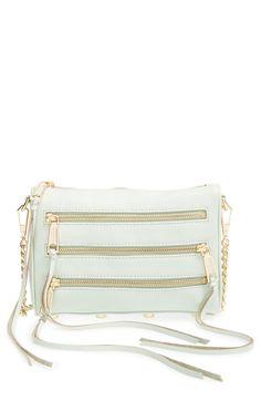 Loving the trio of zip pockets on this modern Rebecca Minkoff crossbody bag.