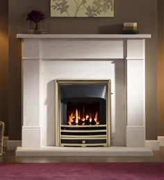 Fireplaces, Fireplace Surrounds, Gas and Electric Fires Limestone Fireplace, Stove Fireplace, Fireplace Supplies, Fireplace Suites, Fire Surround, Condo Decorating, Gas And Electric, Gas Fires, Fireplace Surrounds