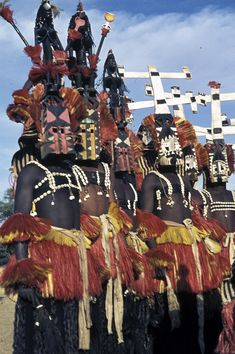 The Dogon tribe and their masks.
