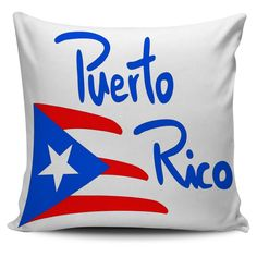 Puerto Rico Flag Square Pillow