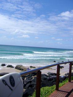 My favorite beach-Coolangatta, Australia Gold Coast Queensland, Queensland Australia, Holiday Destinations, Strand, Great Places, Surfing, Ocean, Tours, Special Quotes