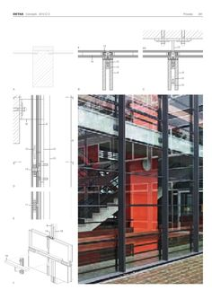 Facade DETAIL Architecture Graphics, Architecture Student, Architecture Drawings, Interior Architecture, Fondation Cartier, Retail Facade, Construction Drawings, Roof Detail, Glass Facades