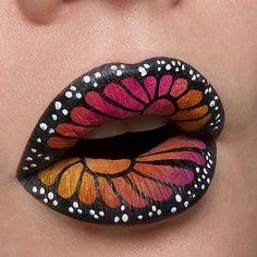 Beautiful butterfly lips feat. 'Black Velvet' Velvetine via @jilltakesphotos Shop: limecrime.com #limecrime #velvetines