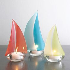 Nautical on pinterest 122 pins - Sailboat tealight holders ...