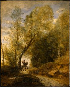 The Forest of Coubron, 1872 by Camille Corot. Realism. landscape