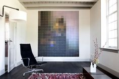 "ixxi.nu - nice site, good quality prints on squared ""tiles"". I also like the pinned pic - its a pixelated Vermeer painting. Nice Deco for a reasonable price, or?    #ixxi #design #interiourdesign"