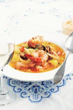 Keltainen bouillabaisse | K-Ruoka #kala