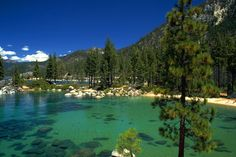 Lake Tahoe in the Sierra Nevada mountains