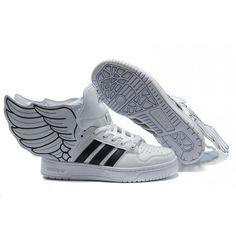 online retailer 4206f 89613 Chaussures Adidas Jeremy Scott Js Wings Noir Et Blanc Pas Cher - €
