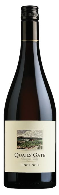 Quails' Gate Pinot Noir from Canada - available at Cellier Veal Saltimbocca, Pinot Noir Wine, Duck Confit, Red Fruit, Wine Cheese, Grilled Salmon, Wine Recipes, Whisky, Wine Pairings