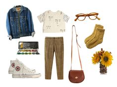 """""""naive"""" by kimberley-lx on Polyvore featuring American Apparel, Toast and Converse"""