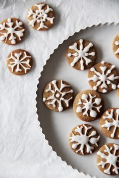 snowflake pepper cookies
