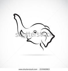 Illustration of Vector image of an elephant head design on a white background vector art, clipart and stock vectors. Elephant Images, Cartoon Elephant, Elephant Head, Logo Desing, Modeling Tips, White Background Photo, Vector Art, Clip Art, Stock Photos