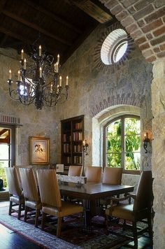chairs and darker dining table.