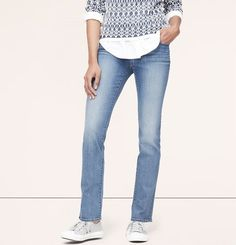 Curvy Straight Leg Jeans in Neptune Blue Wash - Ann Taylor Loft - Curvy, Straight Leg, Petite jeans. My absolute fav jeans. Petite Jeans, Ann Taylor Loft, Curvy, Legs, Stylish, Pants, Blue, Clothes, Shopping