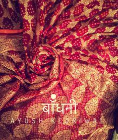 Benarai Bandhani By Ayush Kejriwal For purchases email me at designerayushkejriwal@hotmail.com or what's app me on 00447840384707 We ship WORLDWIDE. Instagram - designerayushkejriwal