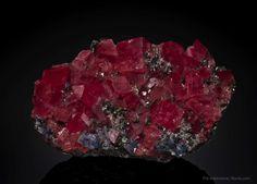 Rhodochrosite Steve's Pocket, Fluorite Raise, Sweet Home Mine, Alma, Park Co., Colorado, USA Cabinet, 16.3 x 9.7 x 6.1 cm