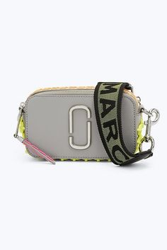 Marc Jacobs Whipstitched Snapshot Small Camera Bag in Drizzle Grey Marc Jacobs Snapshot Bag, Marc Jacobs Bag, Sunglasses Accessories, Bag Accessories, Pump Sneakers, Large Wallet, Work Bags, Mini Crossbody Bag, Sneaker Boots