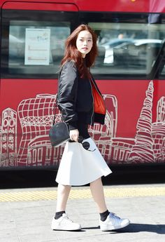 Street style: Seon Hwang shot by Baek Seung Won at Seoul Fashion Week Fall 2015