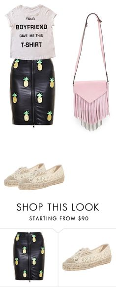 """""""Take that b***h"""" by vestido-azul ❤ liked on Polyvore featuring Love Leather, Bershka, Diane Von Furstenberg and Boyy"""