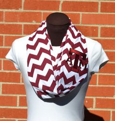 Hey, I found this really awesome Etsy listing at http://www.etsy.com/listing/165160662/monogrammed-chevron-infinity-scarf