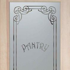 Pantry Doors With Frosted Glass Etched Glass Naples Pantry Door Sans Soucie