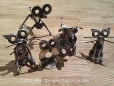 My collection of TIG Welded Nut and Bolt sculptures, the figurines are made with mainly Stainless Steel parts