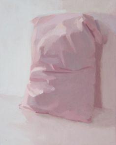 """Artist Alex Hanna; Painting, """"Pink Pillow side view"""" #art #BarnabyFurnas"""