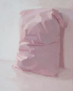 "Artist Alex Hanna; Painting, ""Pink Pillow side view"" #art #BarnabyFurnas"