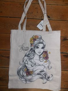 DISNEY BELLE Canvas Tote Shopper Bag Primark in Clothes, Shoes & Accessories, Women's Handbags | eBay