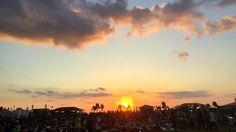 本日のライブ。 【佐野元春 & THE COYOTE BAND】「MONGOL800 ga FESTIVAL What a Wonderful World!!16」 沖縄・美らSUNビーチ特設会場にて