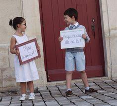 Cortège - Entrée église - Tableau - Arrivée mariée - Arrivée marié - Message de mariage - Enfants d'honneur: