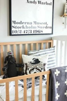 Love the swiss cross blanket. This Wonderfully 'Wild' Nursery Has Some Surprises in Store for Baby | The Stir