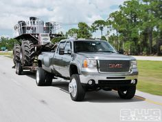 Build It Right And You Can Tow Anything 2008 Gmc Sierra 3500 22 Inch Aluminum Force Compass Rims Photo 2