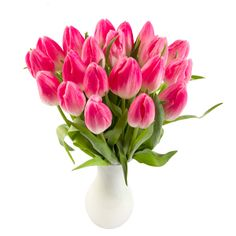 20 Pink Tulips with Vase flower delivery gift service UK