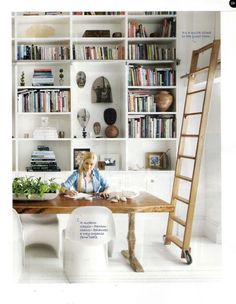lyndsay caleo's house as featured in lucky- Ideas for built-in storage downstairs