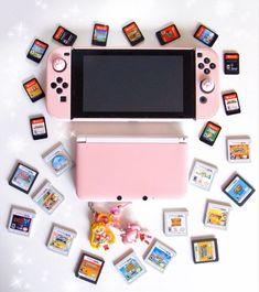 Video Game Nintendo, Nintendo Games, Nintendo Consoles, 3ds Games, Gaming Desk Setup, Nintendo Switch Case, Nintendo Switch Accessories, Kawaii Bedroom, Otaku Room
