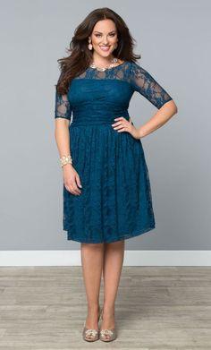 Sweet Luna Lace Dress, Crazy About Blue (Womens Plus Size) From The Plus Size Fashion Community At www.VintageAndCurvy.com