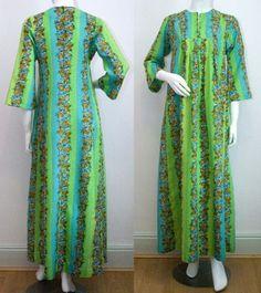 YASMIN SIDRA Hawaiian Long Silk Dress, Small-Med c.1970s @CatwalkCreative