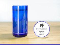 MITTLERER / Ø 6-6,5CM / BLAU (Glas / Becher) von GLÄSERNE TRANSPARENZ auf DaWanda.com