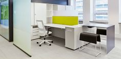 stůl_Teosto in Finland furnished by Bene Office Furniture +++ individual #workstations with T-Lift Desk, K2 storage & tower units.