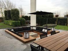 Projekt Choc Studio – zwaanshoek die Niederlande – Outdoor Lounge - Feuerstelle im Garten Backyard Seating, Backyard Patio Designs, Backyard Landscaping, Backyard Ideas, Patio Ideas, Firepit Ideas, Garden Seating, Pool Ideas, Landscaping Ideas
