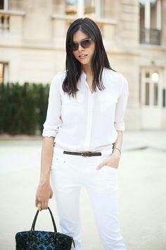 White Jeans, White Shirt