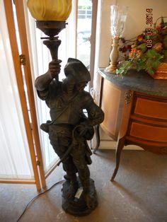 Metal Patina Conquistador Standing Lamp