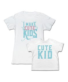 Look at this Happy Soul White 'Cute Kids' Tee Set - Toddler, Kids & Women on #zulily today!