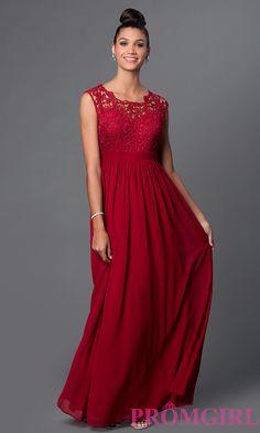 Image of long sheer illusion lace sweetheart bodice chiffon skirt dress Detail Image 2