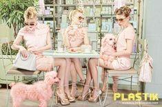 "f Plastik Magazine. ""The Spring Ladies Club"" was shot in Laduree shop by Eli Rezkallah, Ryan Houssari and Ross Feighery. Pink Lady, Pin Up, Ladies Club, Foto Fashion, Club Fashion, Fashion Art, Pink Poodle, Ice Princess, Everything Pink"