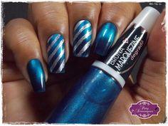 Blue Black - Bruna Marquezine Degradê carimbado com DRK-C #drknails #carimbada #esmaltadasdapatydomingues #ludurana #magnetico # BrunaMarquezineDegradê