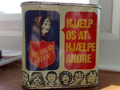 Mid 20th Century Danish Salvation Army collection tin